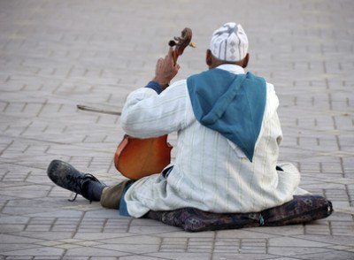 Violin player in Morocco