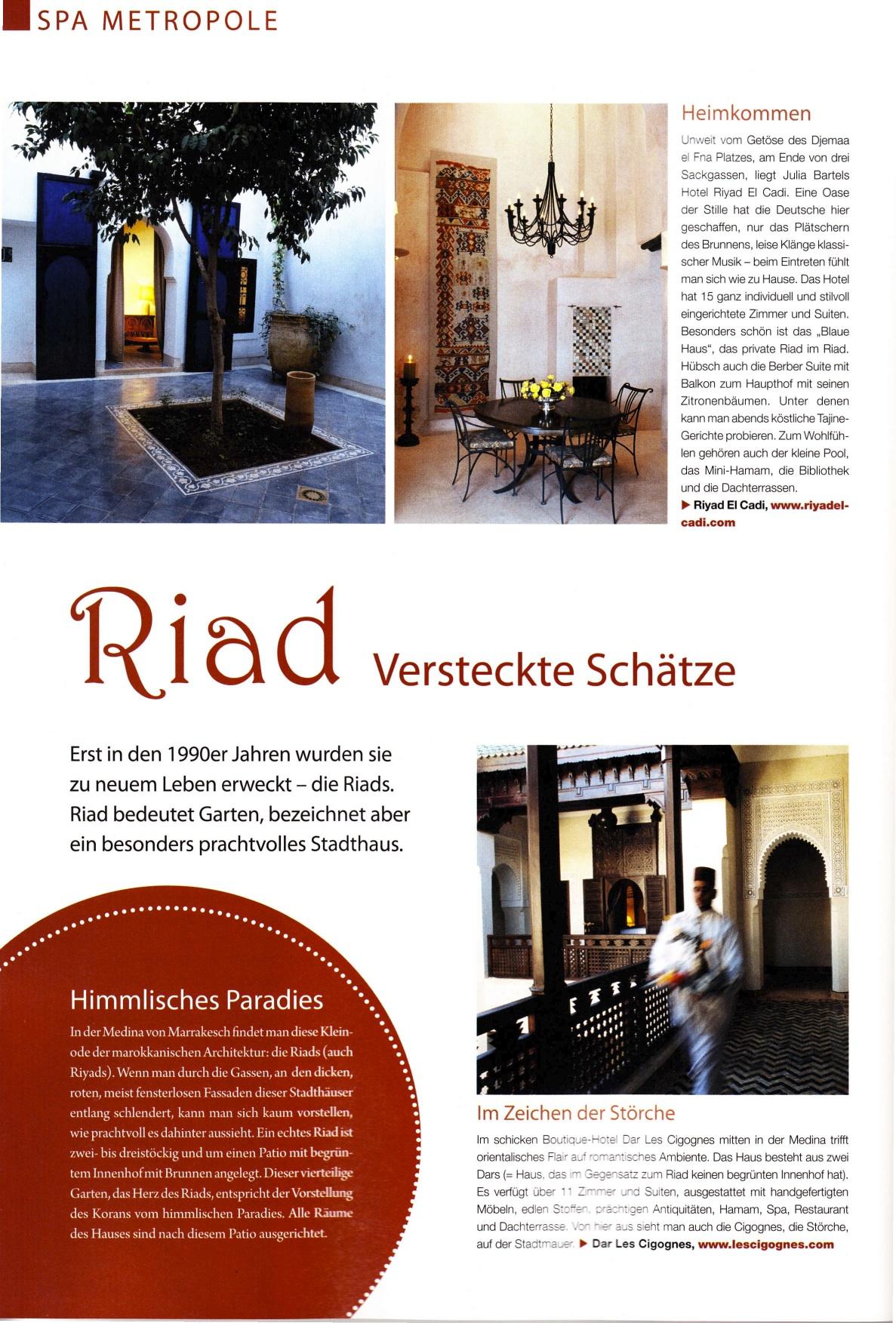 Riyad el cadi in der presse spainside und wohn design for Wohn design
