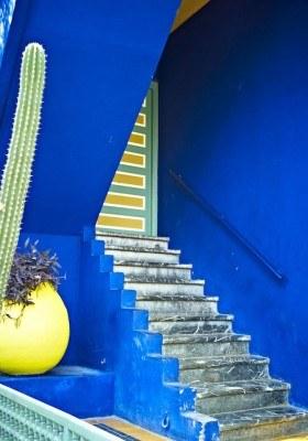Marrakech 2011_Jardin Majorelle-Stairs _ Niels Bitsch