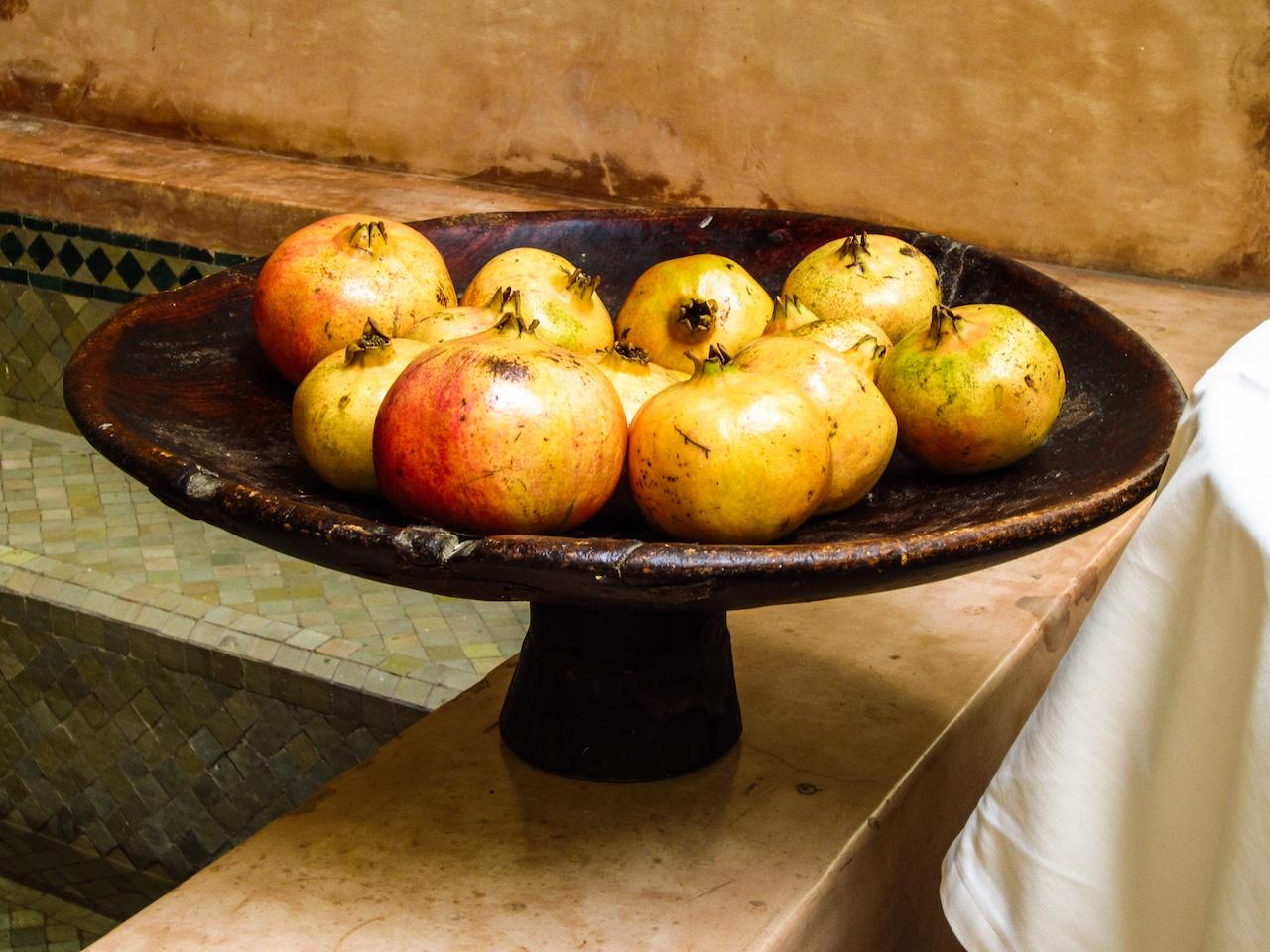 Pomegranades in the patio © Paula Sweet
